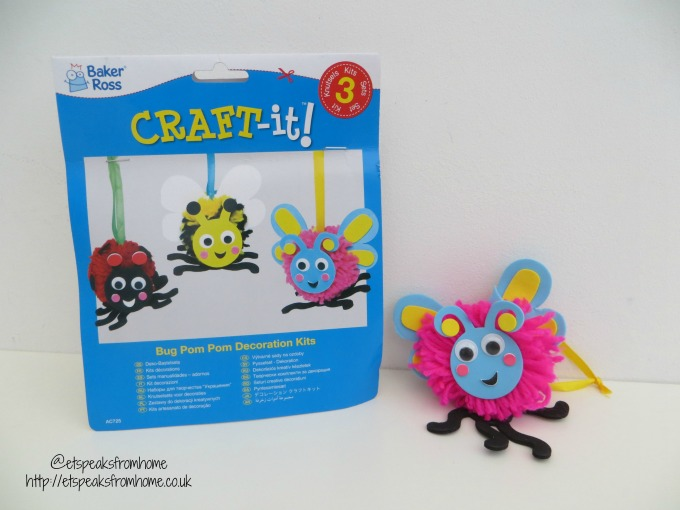spring craft with baker ross bug pom pom