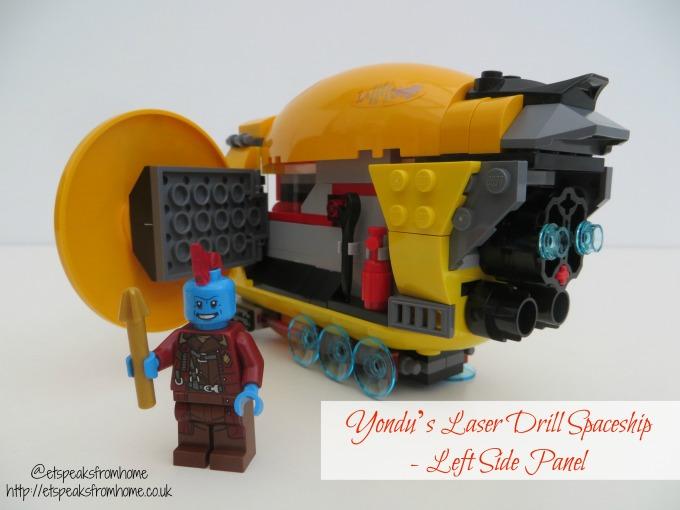 LEGO MARVEL Super Heroes Ayesha's Revenge Yondu's Laser Drill spaceship left panel