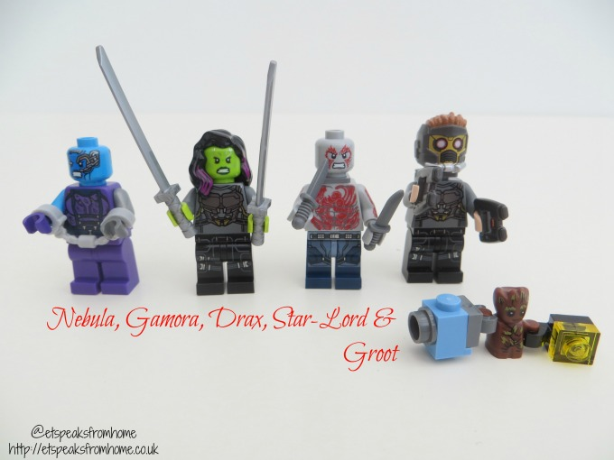 LEGO MARVEL Super Heroes The Milano vs. The Abilisk characters