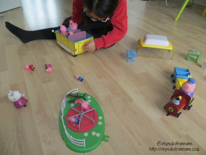 Peppa Pig campervan playset playing