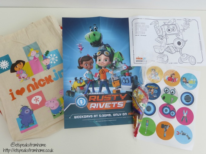rusty rivets goody bag