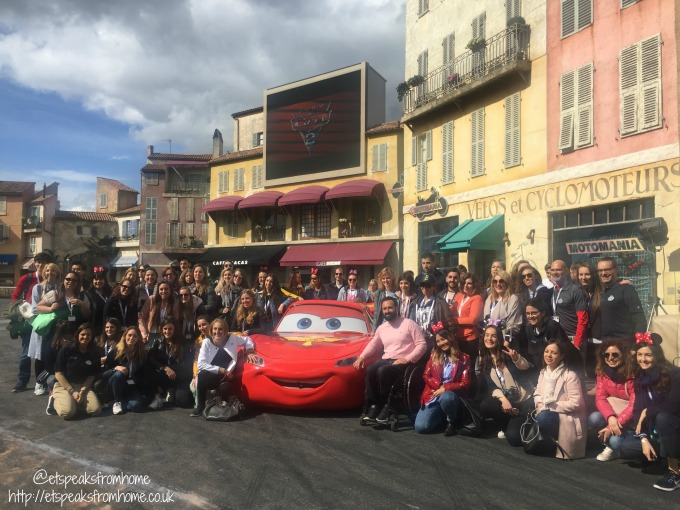 Meeting Disney Ambassadors at runDisney France 2017 lighting mcqueen