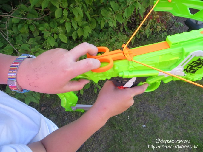 Nerf Zombie Strike Outbreaker Bow launch