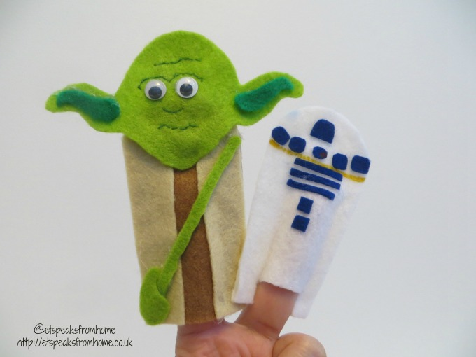 star wars finger puppet yoda r2d2