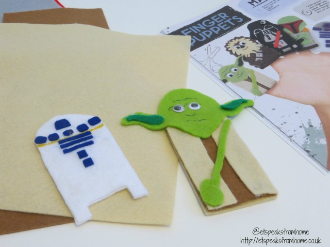 star wars make and do finger puppet yoda r2d2