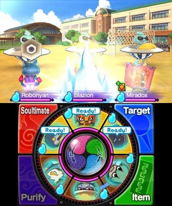 yo-kai watch 2 nintendo 3ds playing