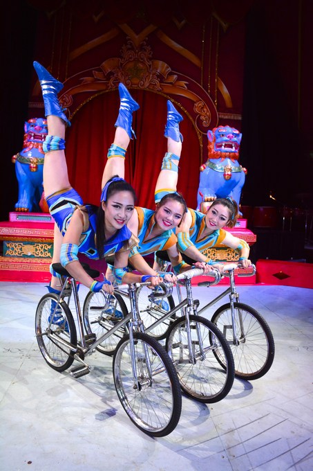 Chinese State Circus bicycle