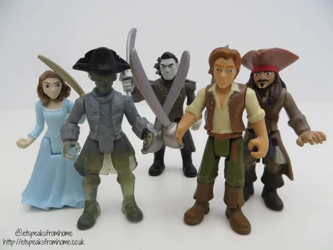 Spin Master Pirates of the Caribbean figurines