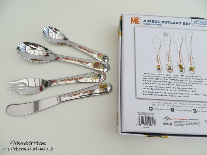Despicable Me 3 Arthur Price Cutlery set