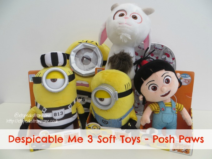 Despicable Me 3 Soft Toys From Posh Paws