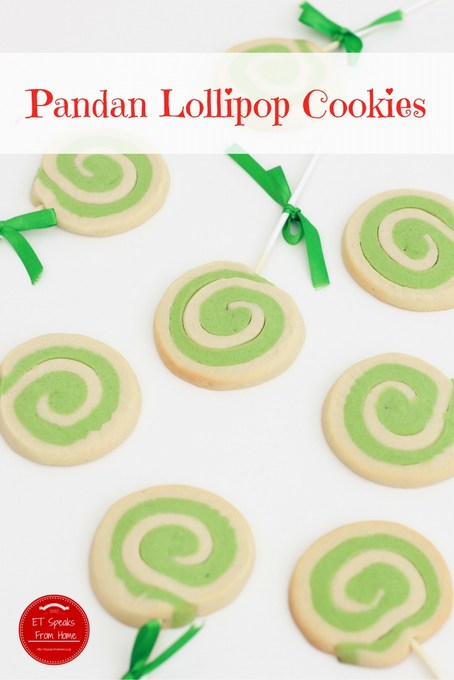 pandan lollipop cookies recipe