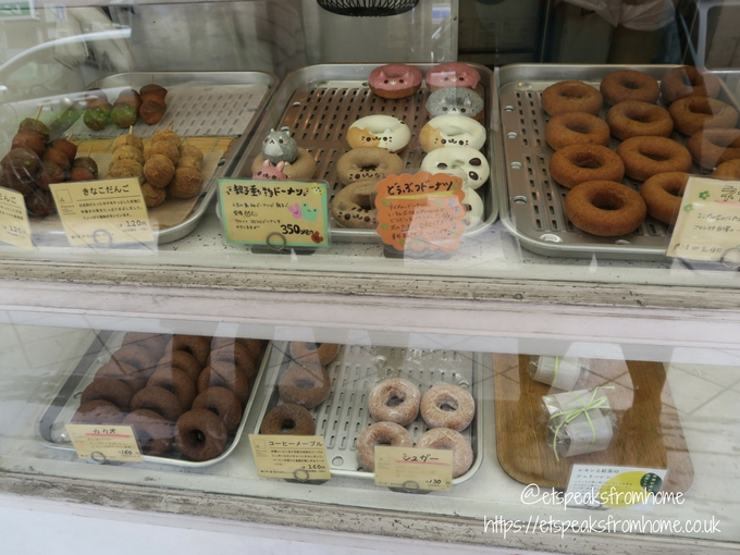 Foods to try in Osaka Floresta Horie Doughnuts stall