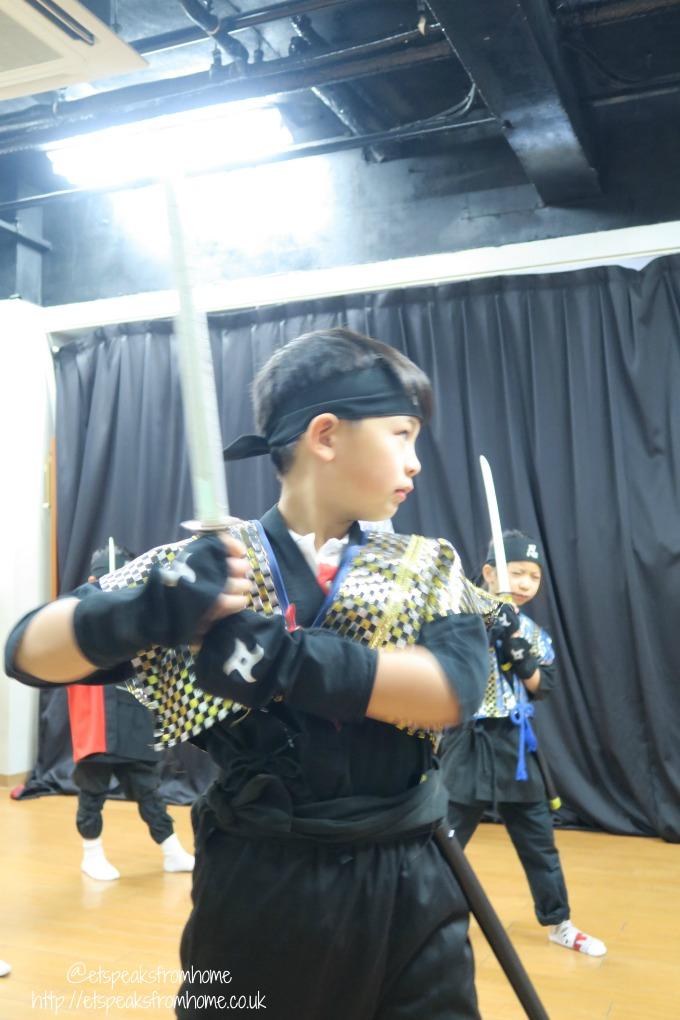Learning Samurai in Osaka sword