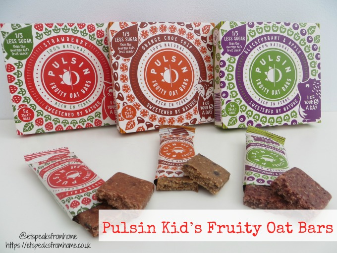 Pulsin Kid's Fruity Oat Bars review