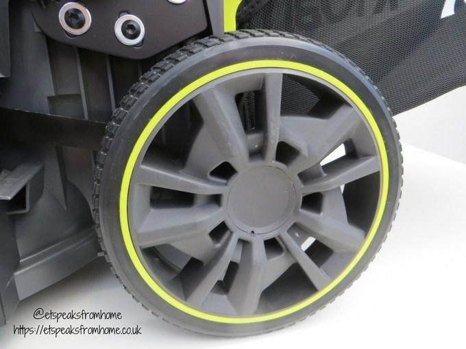 Ryobi 36V fusion lawnmower wheel