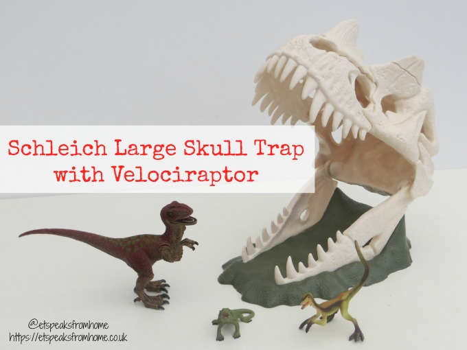 Schleich Large Skull Trap with Velociraptor review