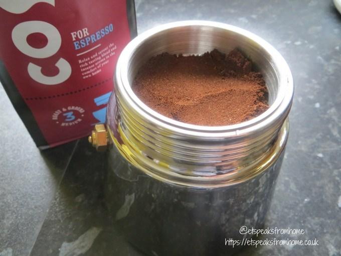 Stellar Coffee 6 Cup Espresso Maker fine ground
