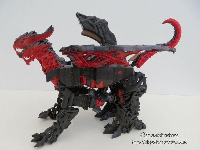 Transformers The Last Knight Mega 1-Step Turbo Changer Dragonstorm review