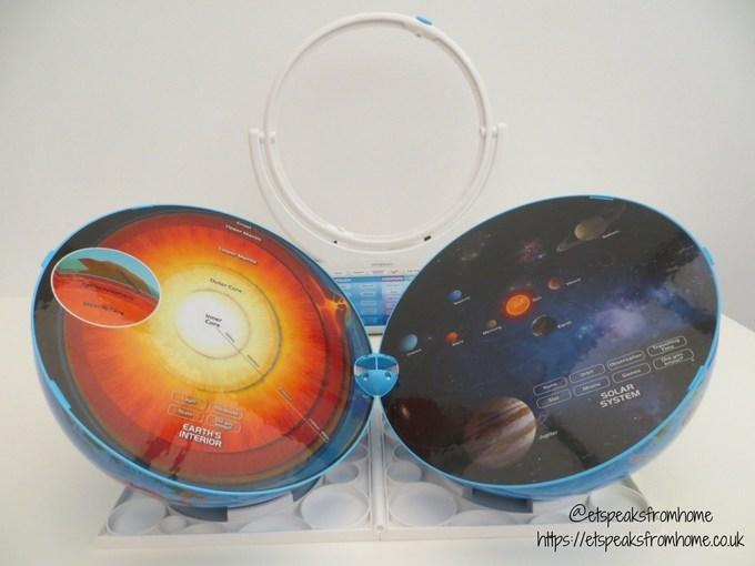 Smart Globe Explorer AR solar system