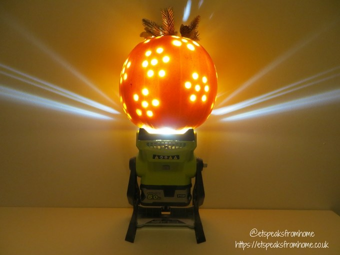 halloween pumpkin carving challenge - flower pumpkin using ryobi lightin