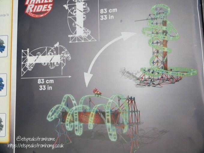 k'nex web weaver roller coaster landscape