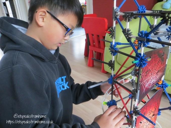 k'nex web weaver roller coaster thrill rides