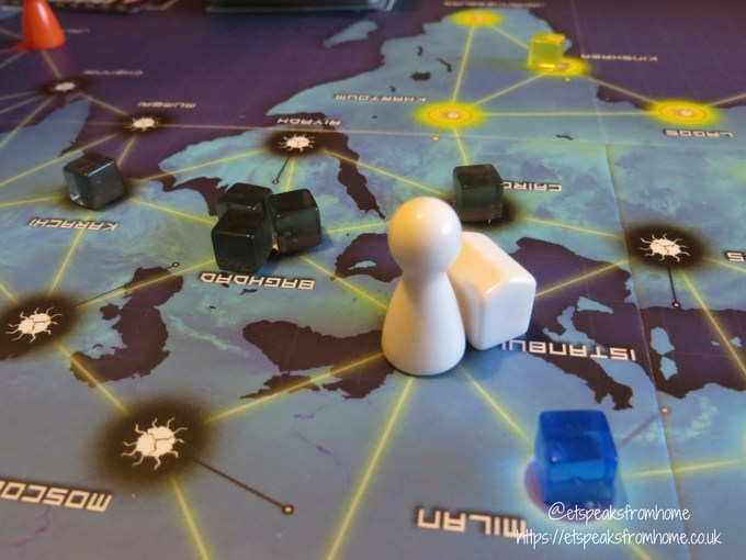 pandemic board game headquater