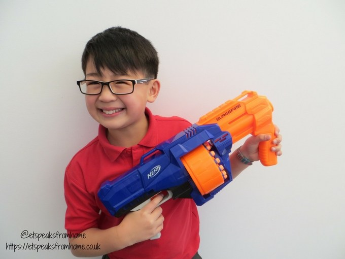 Nerf N-Strike Elite Surgefire playing