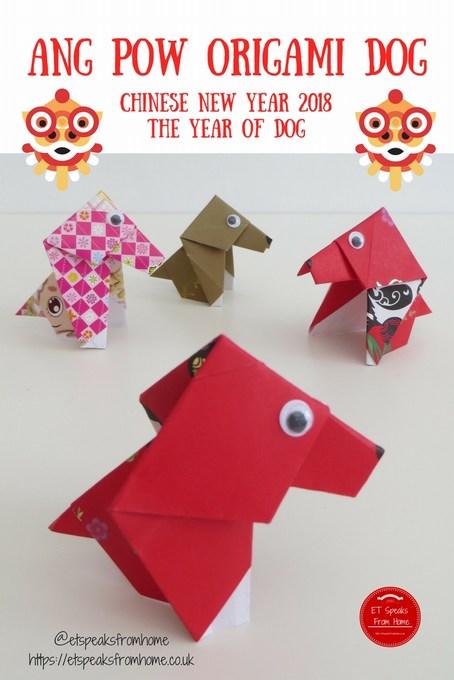 Ang Pow Origami Dog chinese new year 2018 dog craft