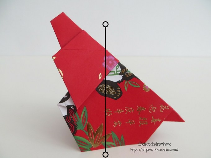Ang Pow Origami Dog chinese new year 2018 step 10