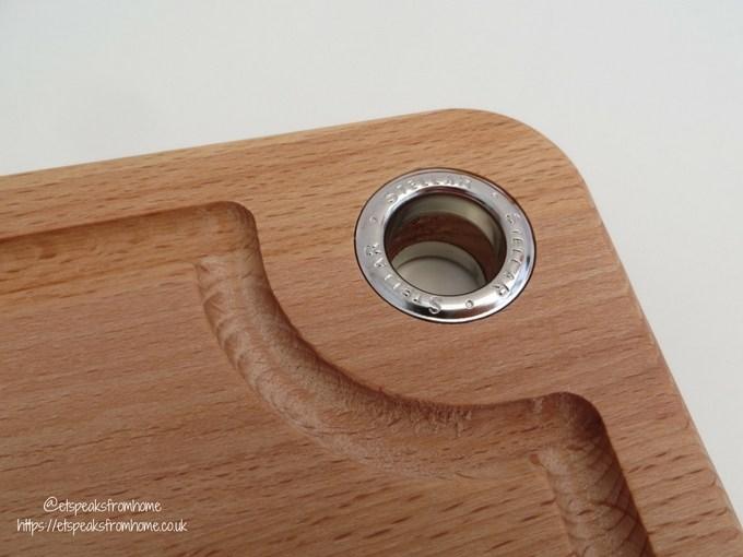Stellar Beech Wood Cutting Board loop