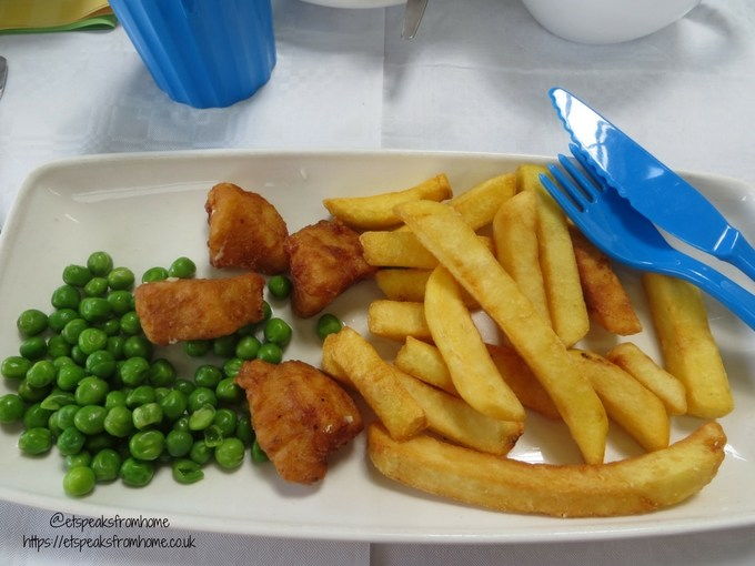 Tea with Easter Bunny at Wyevale Garden Centres chicken nuggets