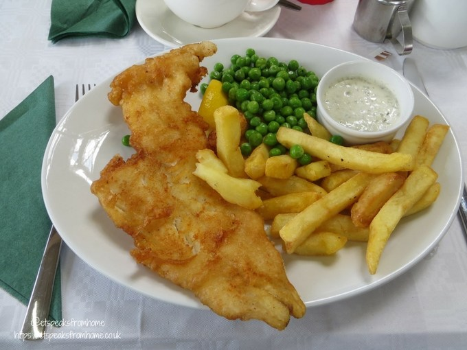Tea with Easter Bunny at Wyevale Garden Centres fish and chips