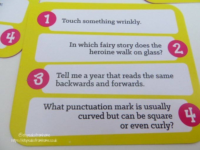 quirky game card questions