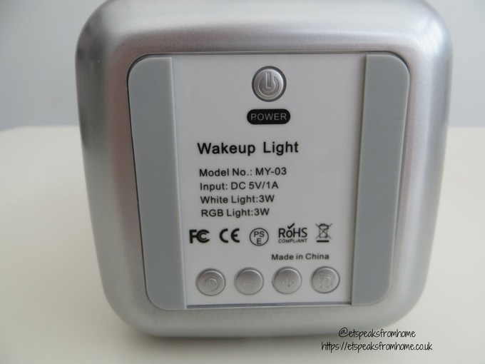 tsumbay wake up light alarm clock base