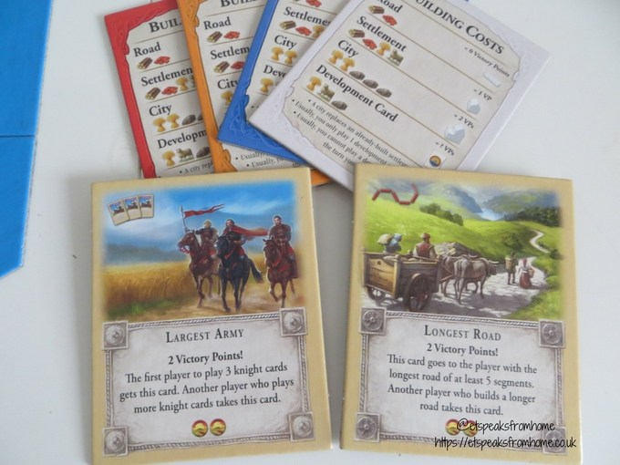 catan board game card