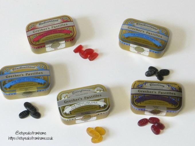 Grether's Pastilles flavours