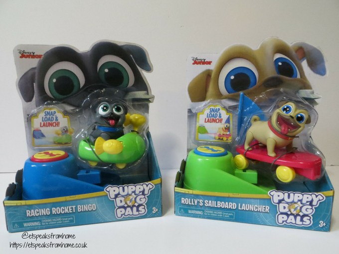 Puppy Dog Pals figures on the go