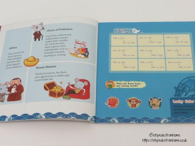 Chinese Zodiac Animals Book Rat year