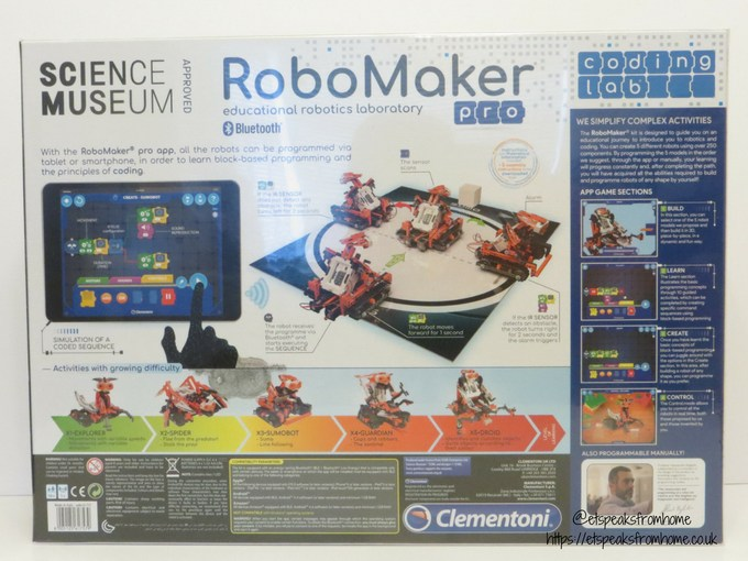 Clementoni RoboMaker Pro back