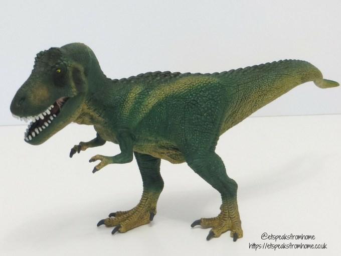 Schleich t-rex side view