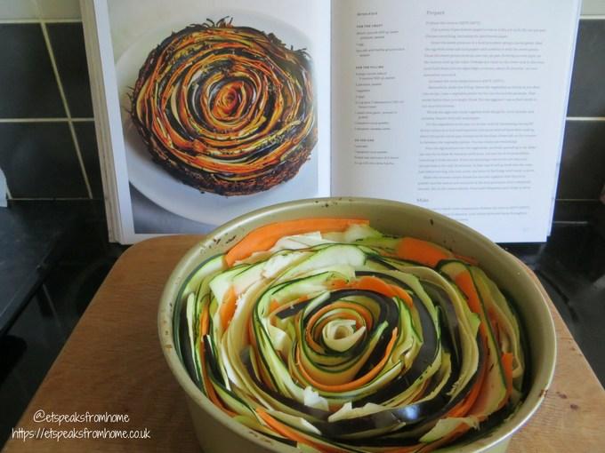 Vegetable Spiral Tart before baking