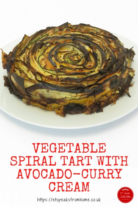 Vegetable Spiral Tart with Avocado-Curry Cream