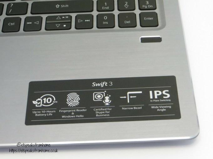 acer swift 3 15.6 16gb optane 1tb laptop fingerprint
