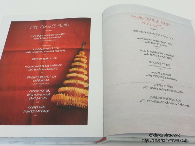 home sweet christmas cookbook menu
