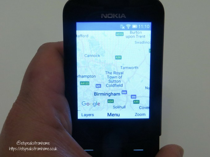 nokia 8110 4g google map