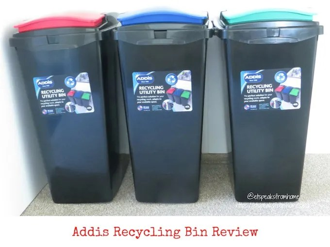 Addis recycling bin with colour lid review