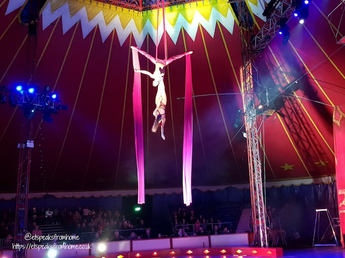 The Gandeys Circus Greatest Showmen Tour silk