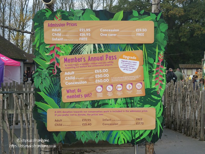 The Great Brick Safari at Twycross Zoo fee