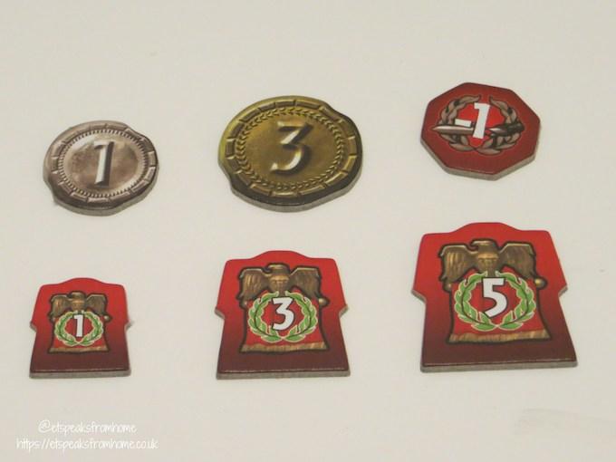7 wonders game tokens